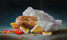 Broodje gezond in papieren zak