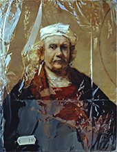 Rembrandt's zelfportret in plastic