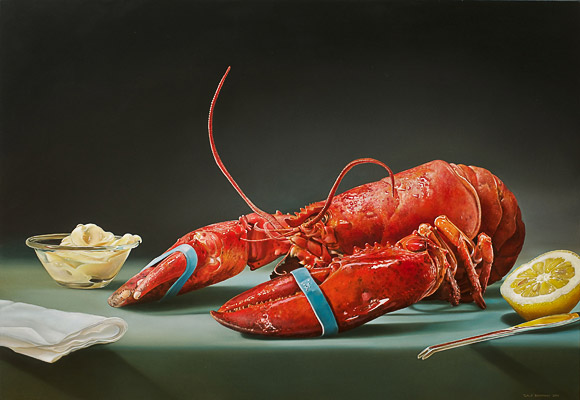 'De Kreeft' 90 x 130 cm olie/ doek 2010 opdracht collectie Vanhorick
