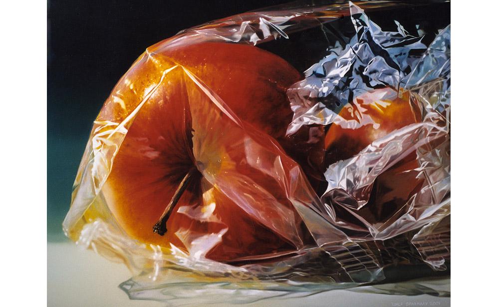 Appels in plastic