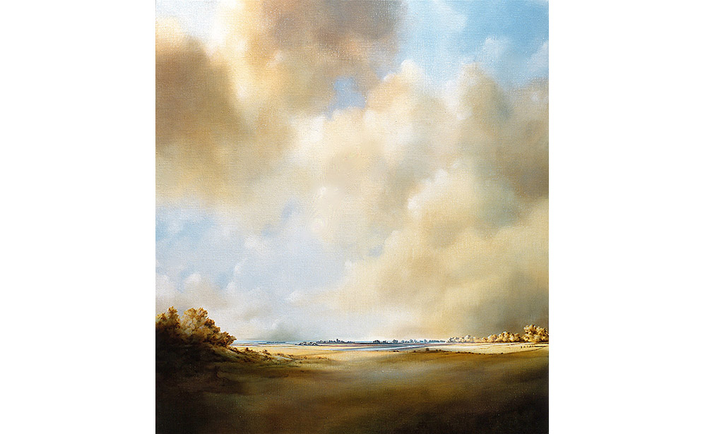 Landschap met wolkenlucht