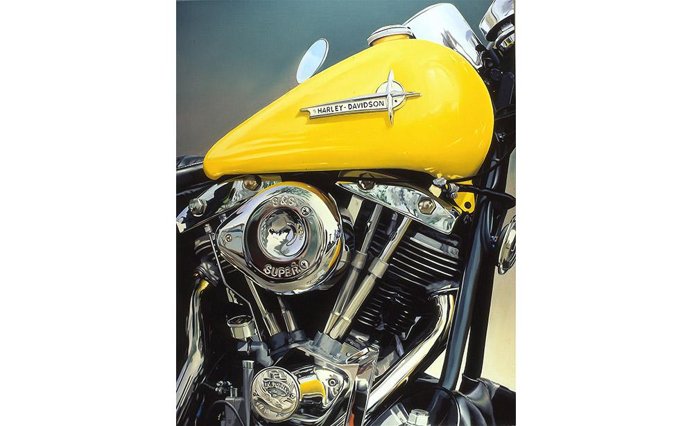 Yellow Harley